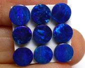 Opal Cabochon 5mm Round Blue Cobalt Green Australian ONE Stone Perfect for Stacking Rings Jewelry Confetti Pin Fire Sparkle Teal Aqua