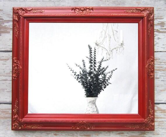 ... Vanity Mirror 31u0026quot;x27u0026quot; Red Framed Bedroom Bathroom Mirror Vanity Mirror