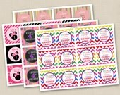 Coordinating Favor or Round Sticker Digital File to match any Tints and Prints by Tierney card
