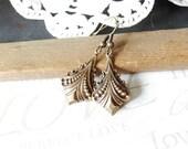 SPOON vintage brass dangle earrings B7
