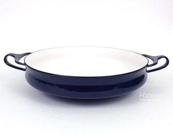 Vintage Dansk Kobenstyle Dark Cobalt Blue Enamel Buffet Server Dish