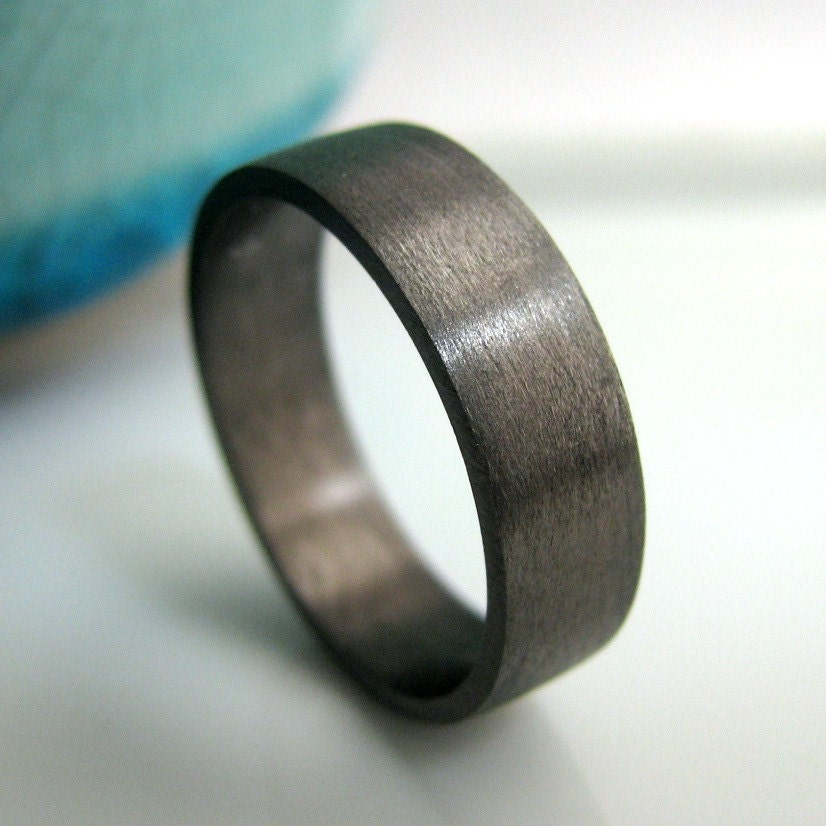 6mm wedding band black gold plated over sterling silver mens wedding band black - Black Wedding Rings For Men