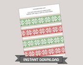 Ugly Sweater Christmas Water Bottle Labels ~ Instant Download ~ Printable