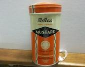 Vintage McNess pice tin, McNess mustar tin,   tin old spice tin, vintage spice tin
