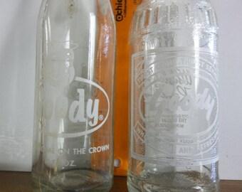 Goody pop bottle, two Goody soda bottles,  old pop bottle, vintage pop bottle, Wisconsin pop bottle