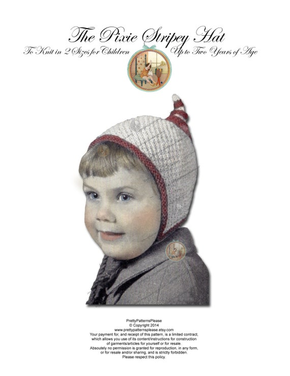 Knitting Pattern For Dwarf Hat : Pixie Gnome Dwarf Hat Knitting Pattern for Babies & Toddlers