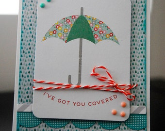 I've Got You Covered - OOAK Handmade / Homemade Card - JoBoogie Crafts
