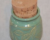 Small Treat Jar - Matches fountains done in Sea Green