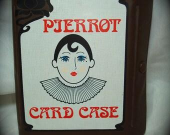 1970s Pjerrot Playing Card Case Set.