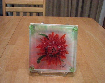 REDUCED!! 3D Painting w/ fused flower.
