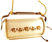 Tole Headboard Bed Reading Lamp Light Gold Ivy Leaves Clamp On Canister