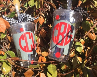 AL elephant straw cup with personalization