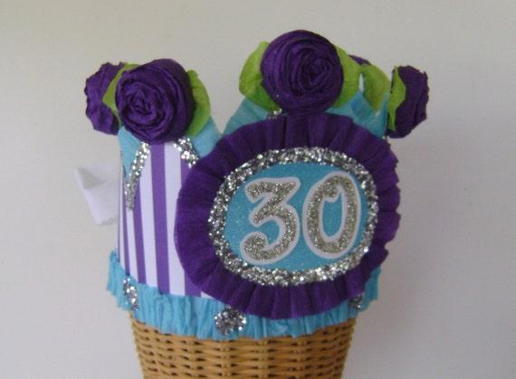 30th Birthday Party Crown Hat Girls