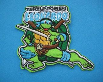 SALE~ Iron-on embroidered Patch Ninja Turtle Leonardo 3.5 inch