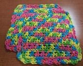 100% Cotton Multicolored Dishcloths, Set of 2