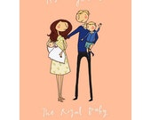 Duchess of Cambridge, Royal Baby Family Portrait  A3 or A4 (uk)