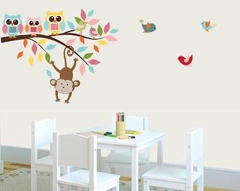 Baby Nursery Art Decor Branch Wall Decal, Girls Nursery Art, Vinyl Decals, Kids Wall Decor