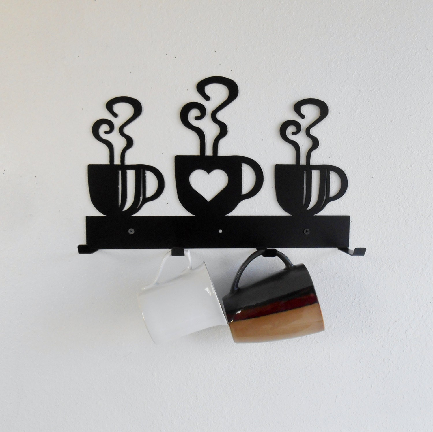 Kitchen Wall Hanging Mug Rack Etsy