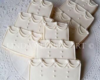 Traditional Wedding Cake Cookies 1 Dozen (12)  w