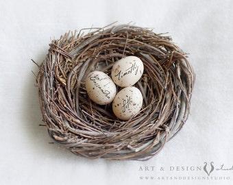Gifts for Mom, Personalized Gift, Family Nest, Custom Name Eggs, Wall Artwork, Home Decor, Mothers Nest, Name Nest, Mom Gift, Mom Print