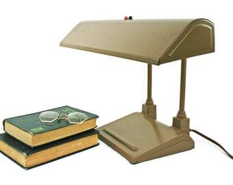 Vintage Desk Lamp (c. 1950s) Retro Office Lighting for Home or Office Mid-Century Decor