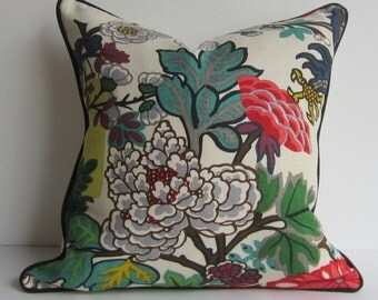 Chiang Mai Dragon - Alabaster - Decorative pillow Cover - 20X20  inch - Schumacher Pillow - ready to ship