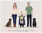 Additional Infant for Custom Family Portrait