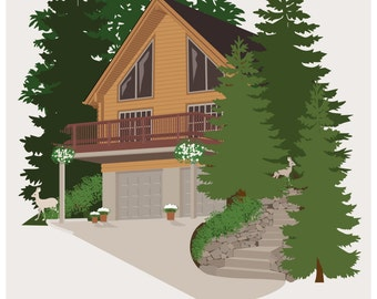 8X10 custom House Portrait