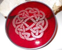 Red Celtic Knot Suncatcher