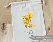 WILD  Monster THINGS - Personalized Favor Bags - Set of 10 - Birthday - Wild Rumpus - King