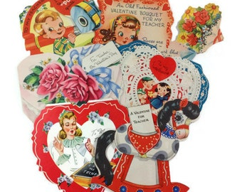 Vintage School Valentines for Teacher