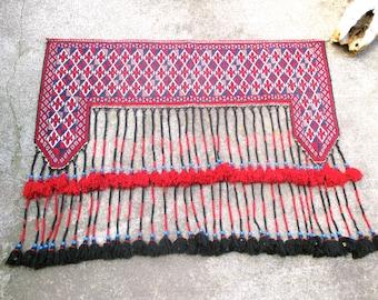 Vintage Carpet Decorative Ethnic Woven Carpet Boho Gypsy Textile Window Topper Tribal Antique Door Hanging Antique Kilim Entrance Rug