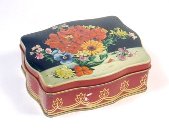Small Floral Tin - Made in England