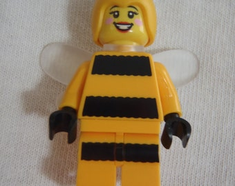 Custom Bumblebee Girl Necklace Made With Genuine LEGO® Bricks