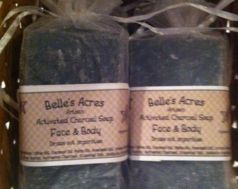 Activated Charcoal Face and Body Acne Bar Tea Tree Oil