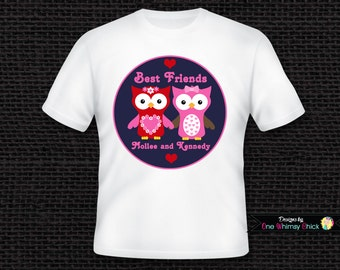 Best Friend Shirts Owl T Shirt or Bodysuit Personalized
