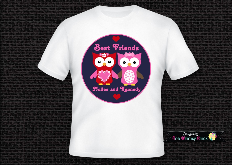 Best Friend Shirts Owl T Shirt or Bodysuit Personalized