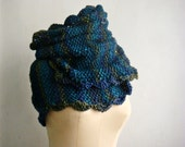 Chunky Infinity Scarf, Wool Cowl Snood,  Oversized Loop Circle Scarf