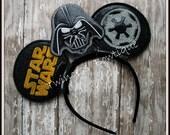 Darth Vader Mouse Ears Headband - CUSTOM - Twincess Bowtique