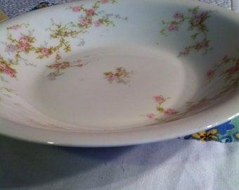 Vintage Theodore Haviland Limoges Soup Or Salad Bowl Dainty Pink Floral Made in France #2001