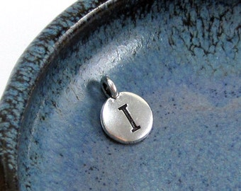 "NEW TierraCast Silver Letter ""I"" Disk Charm *YOU Collection*"