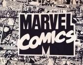 Very rare / OOP / Marvel Comics Fabric / Black and White / Superhero Fabric/ half yard