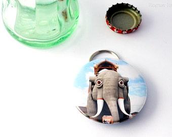 Elephant Bottle Opener - Lucy The Elephant - Lucy Keychain -Bottle Opener Keychain Combo - Jersey Strong