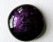 Dichroic Glass Cabochon 19 mm Iridescent Violet