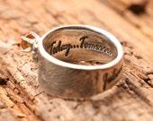 Fingerprint Wedding ring - Actual Handwriting Jewelry