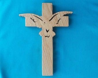 Wooden Wall Cross C6