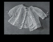 Vintage Elegant Baby Thread Crochet Lace Sweater PDF Pattern
