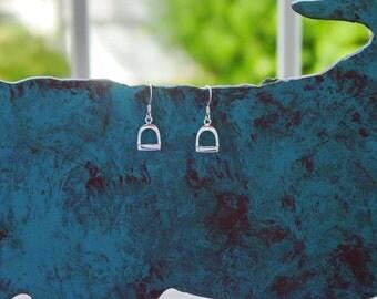Stirrup Horse Sterling Silver Earrings Equestrian Jewelry Horse Earrings
