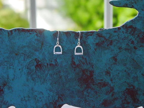 Stirrup Horse Sterling Silver Earrings Equestrian Gifts, Horse Gifts
