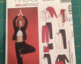McCall's Women's Active Wear Pattern #4261